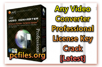 Any Video Converter Professional License Key