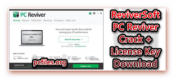 PC Reviver License Key, PC Reviver