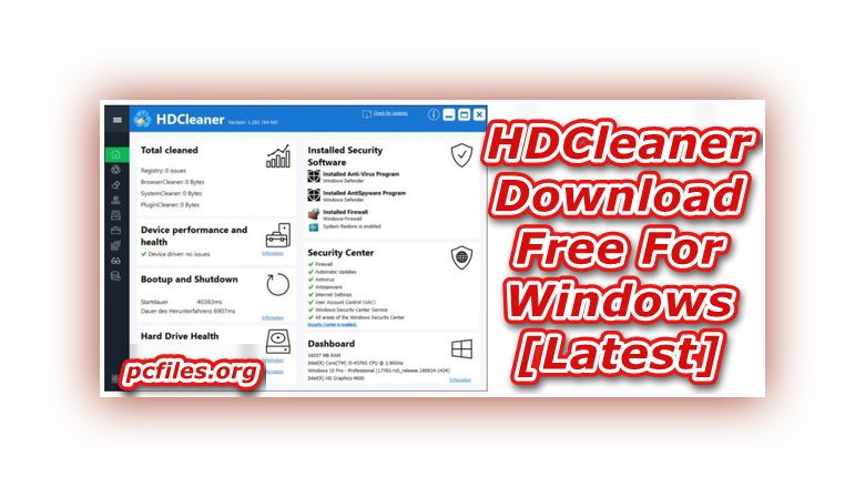 HDCleaner Download, Cleaner for Windows 10